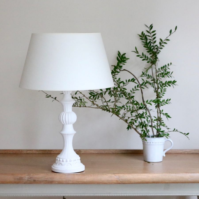 french white wooden table lamp. Black Bedroom Furniture Sets. Home Design Ideas
