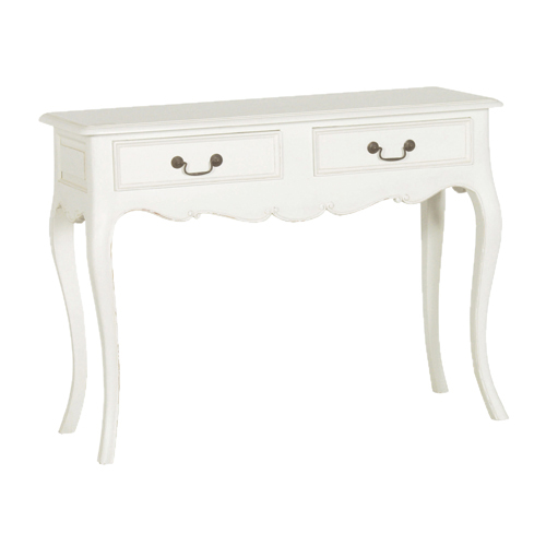 White Console Table : Lisa White Two Drawer Console Table : £375.00