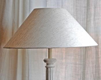 Valerie White Distressed Lamp Shade